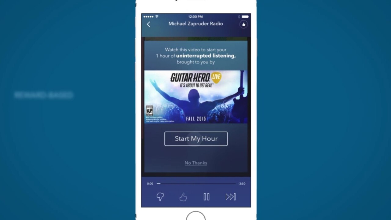 Pandora now lets you listen to an hour of music after you engage with an ad