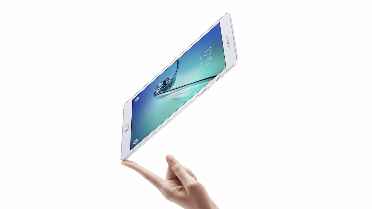Samsung's new Galaxy Tab S2 tablets are thinner than the latest iPad Air