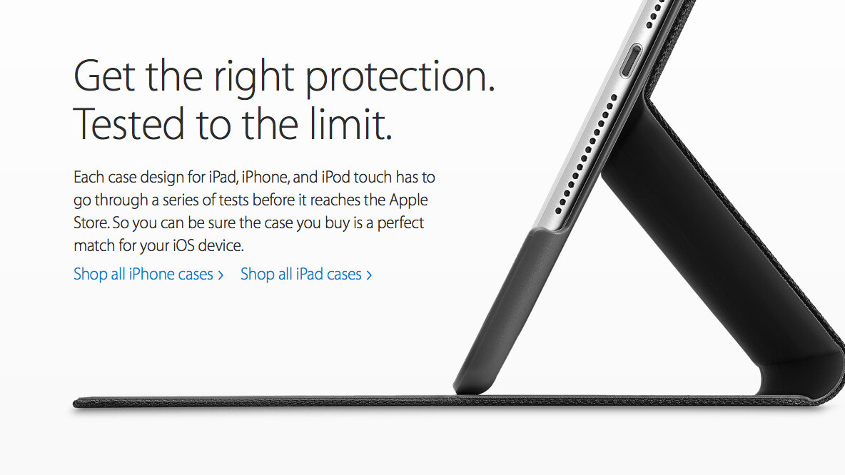 Apple Store is now highlighting cases and covers it has tested for iOS devices