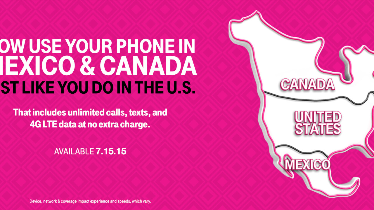 T-Mobile's Simple Choice plans will soon include free roaming in Mexico and Canada