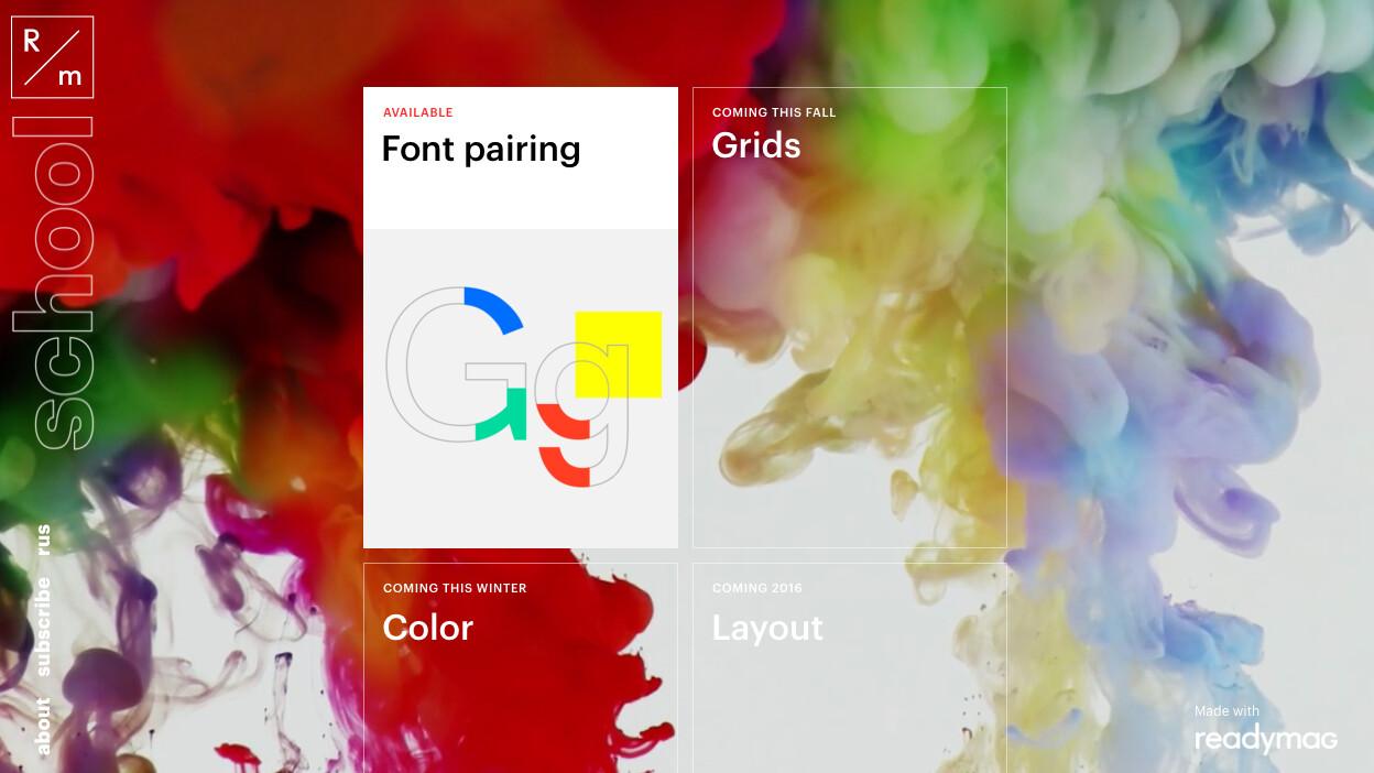 Readymag's Design School will teach you the fundamentals of visual design