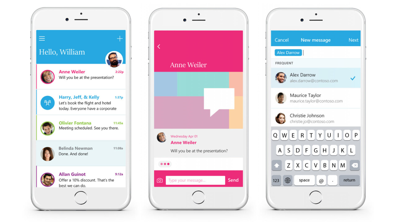 Microsoft's new Send app makes email more like WhatsApp