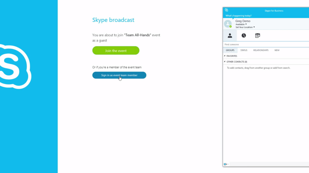 Office 365 enterprise users can now broadcast to 10,000 people at once via Skype for Business, should they wish