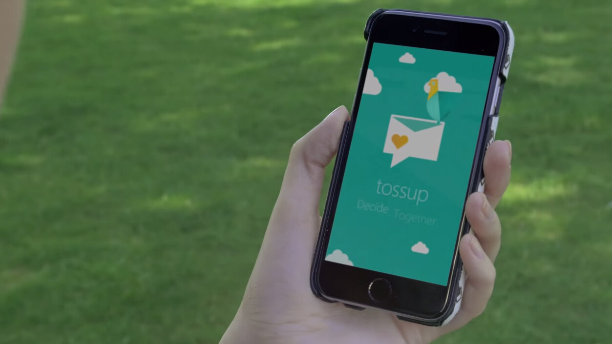With Microsoft's new Tossup app it's easy to make plans with friends