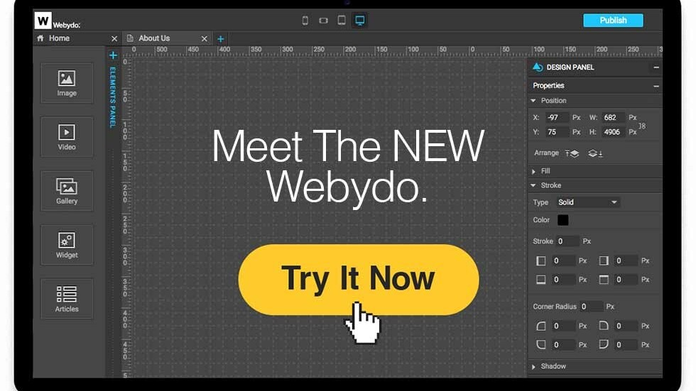 Webydo 2.0 offers a 'Full White Label' solution for professional Web designers