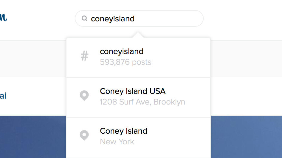 Instagram finally brings its search functionality to the Web