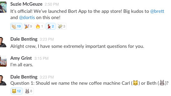 Slack invents emoji favs: A whole new way to say what you think ???