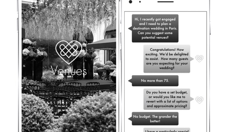 This on-demand service lets you plan your wedding via text