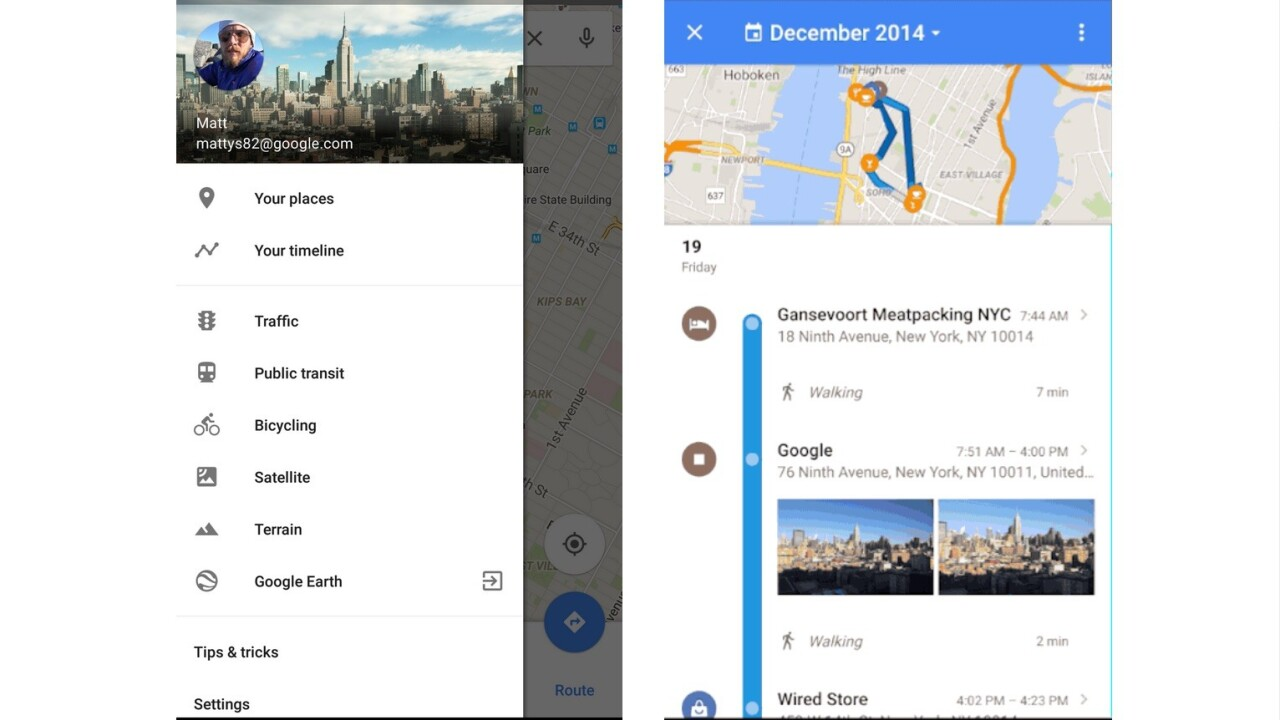 Google Maps now lets you revisit your location history in a detailed timeline
