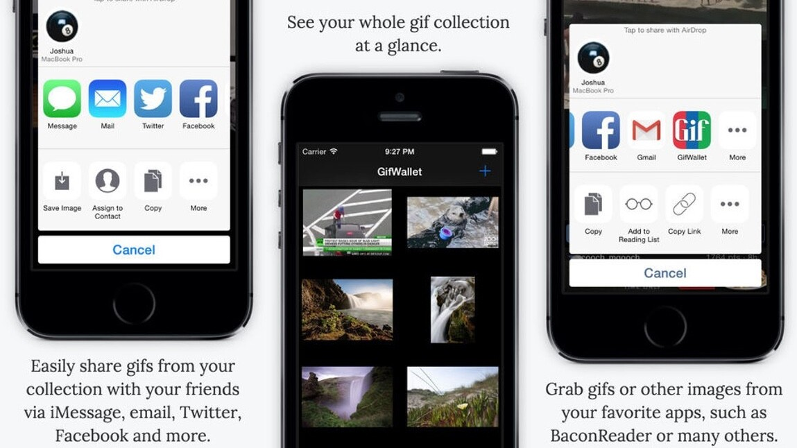 GIF Wallet for iOS lets you tuck your favorite GIFs away for sharing later on