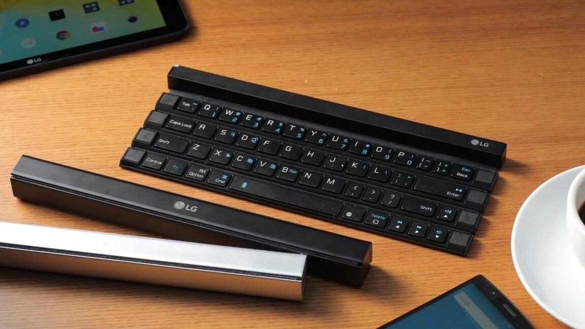 LG's new Bluetooth keyboard folds into a pocket-sized stick
