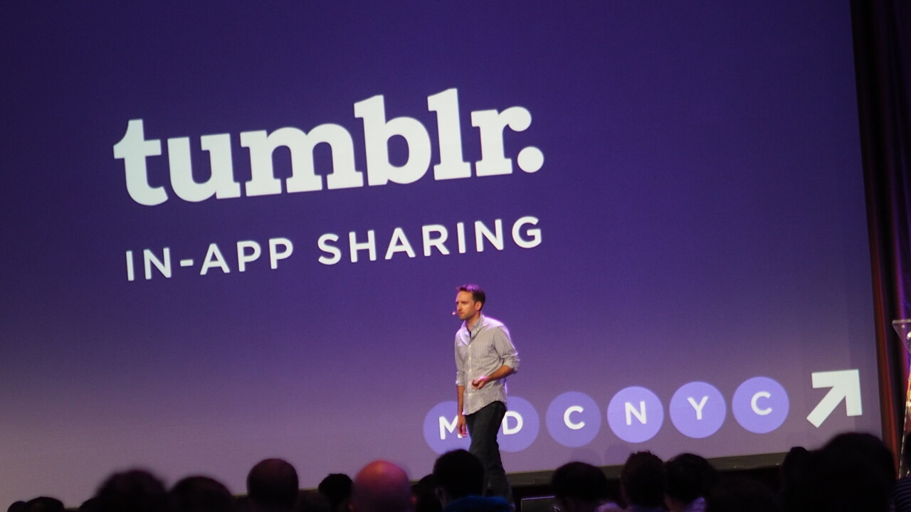 Developers can now add native Tumblr sharing to their apps