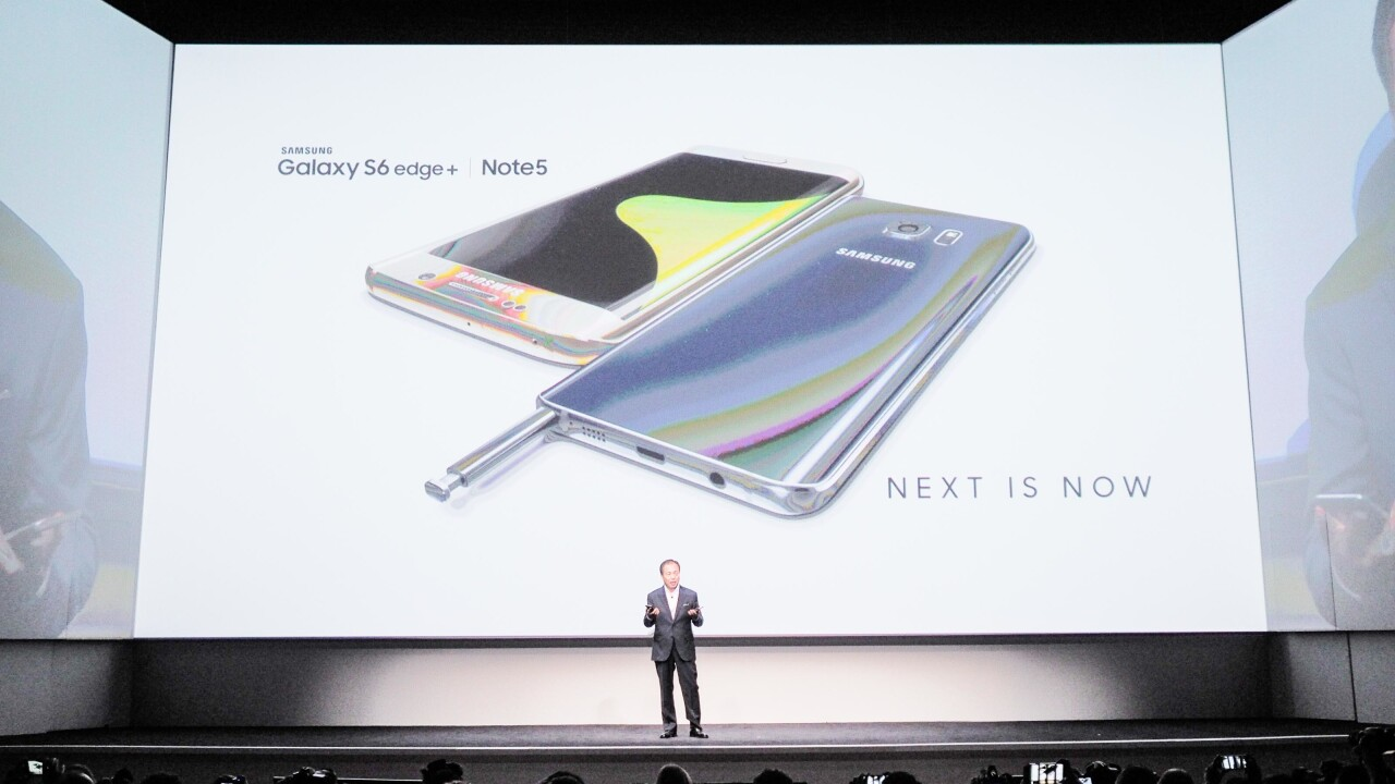 Samsung launches the Galaxy Note 5, in stores August 21
