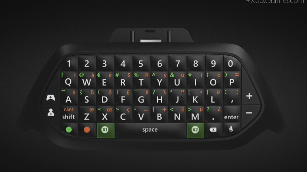 Microsoft finally unveils an official Xbox One chatpad