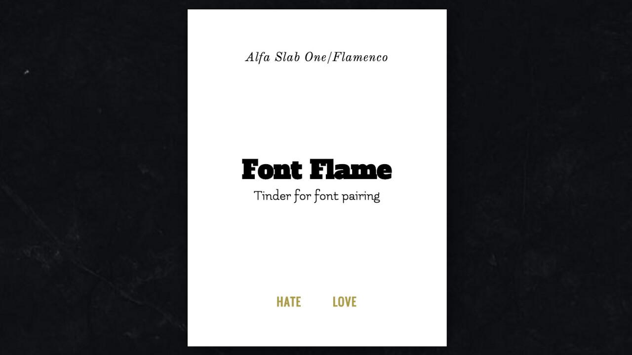 Choosing font pairings just got easier: Meet 'Tinder' for typefaces