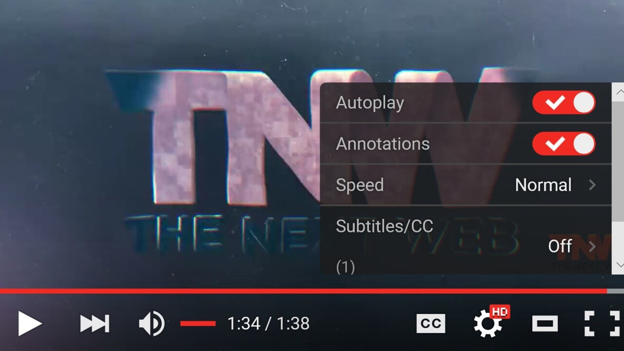 YouTube's Web video player just received a sleek transparent update