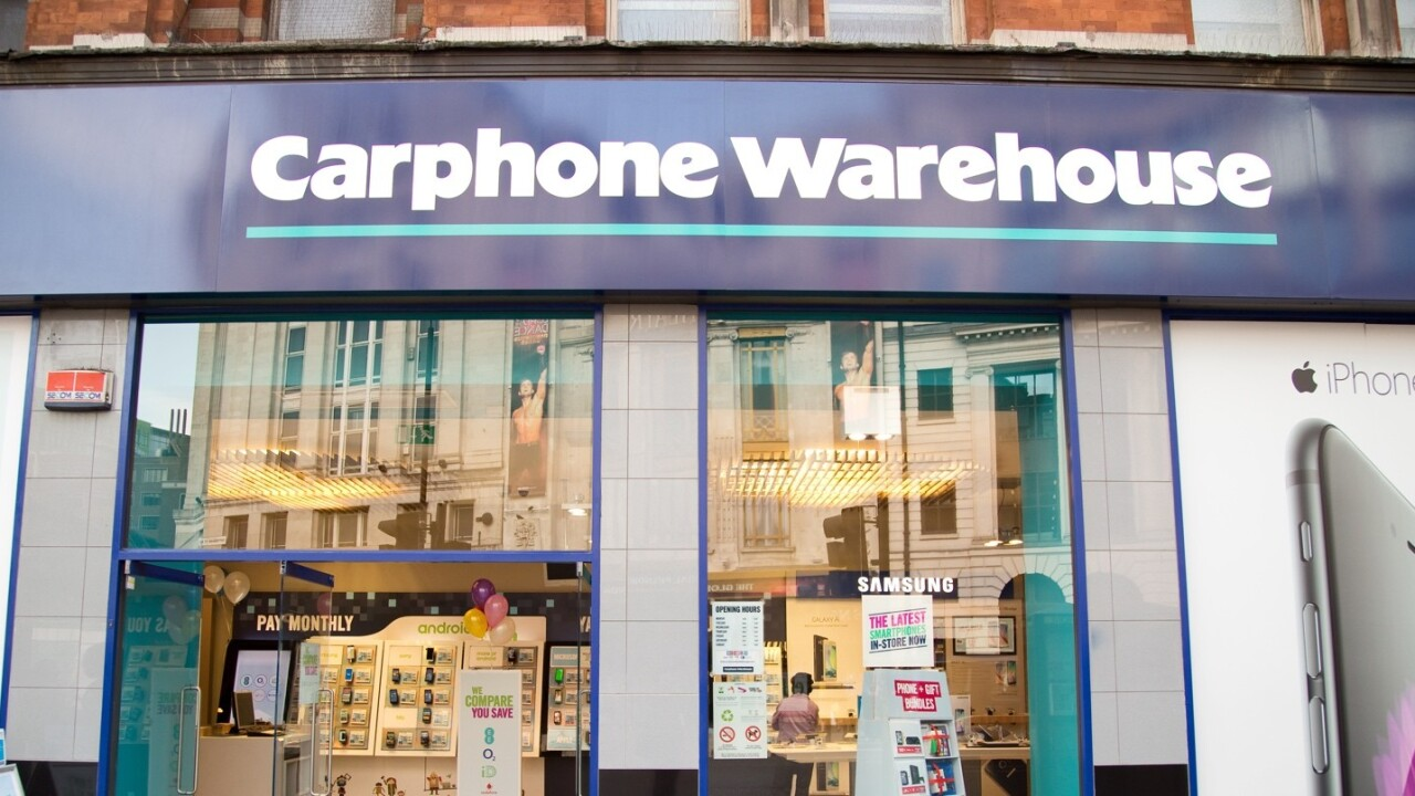 Carphone Warehouse reveals data breach affecting up to 2.4m customers