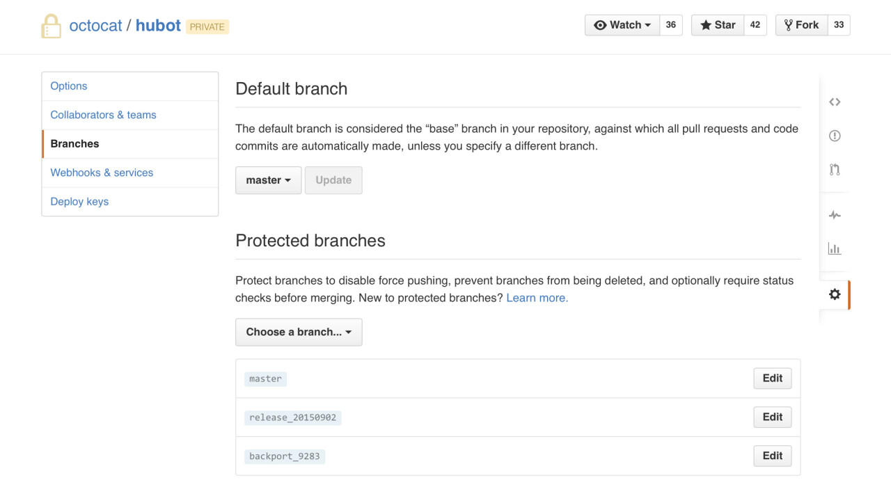 Github introduces Protected Branches to help keep projects on the right track