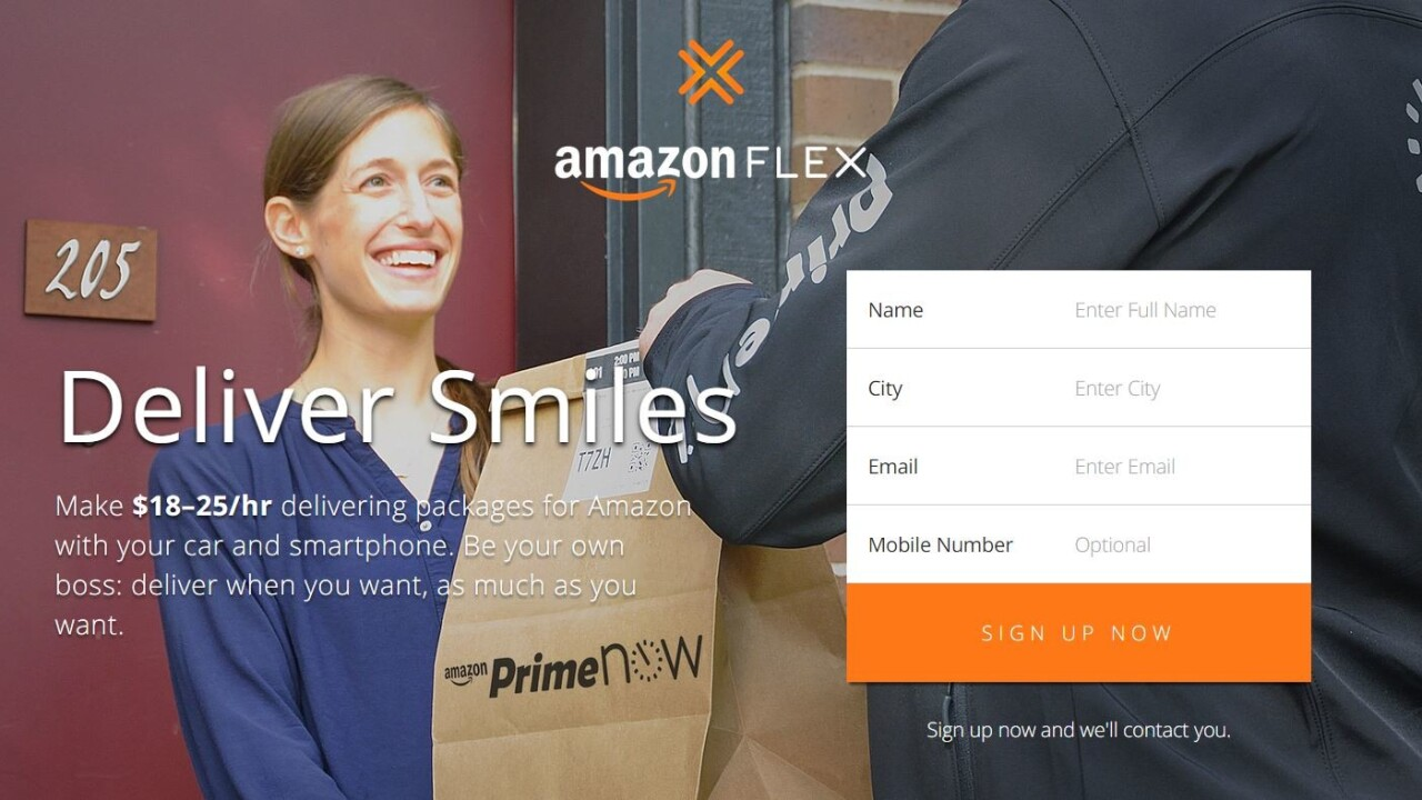 Amazon now lets you earn money by delivering packages