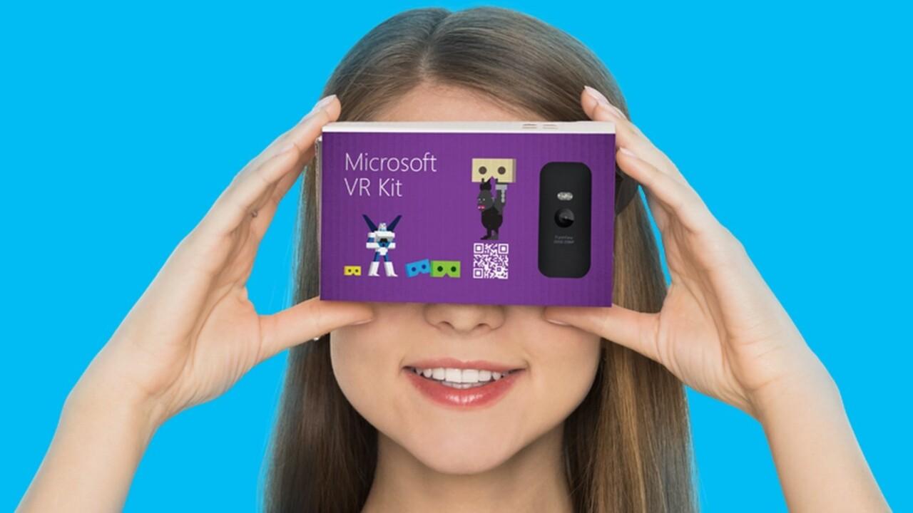 Microsoft is preparing to take on Google Cardboard with VR Kit