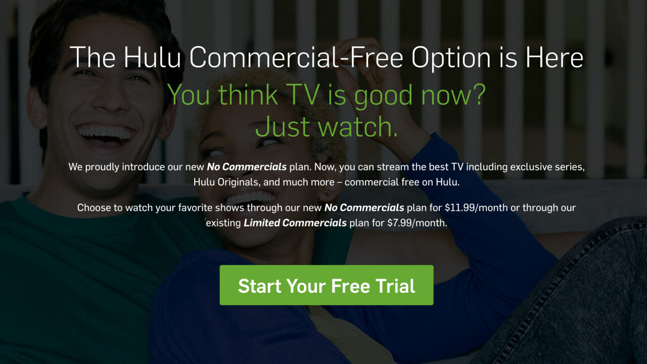 Hulu finally gets rid of commercials with new $12 subscription