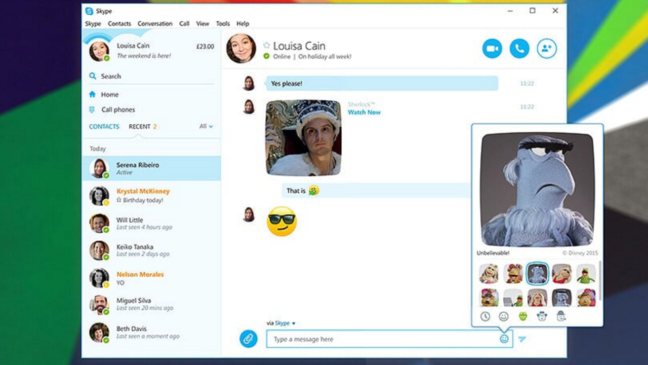 Skype just made GIFs better by adding credits