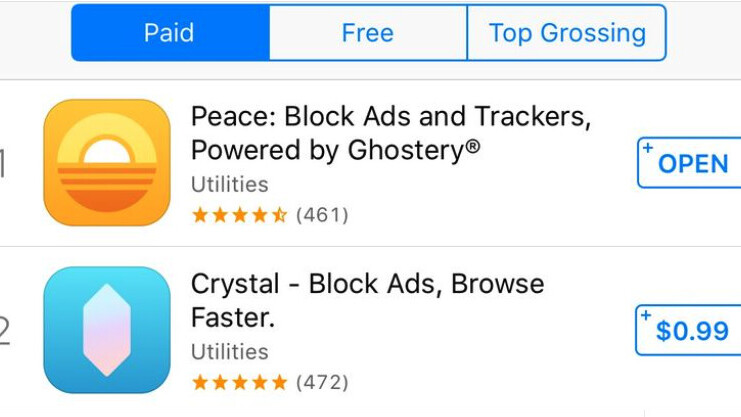 Apple is issuing refunds to all who purchased the iOS 9 ad blocking app Peace