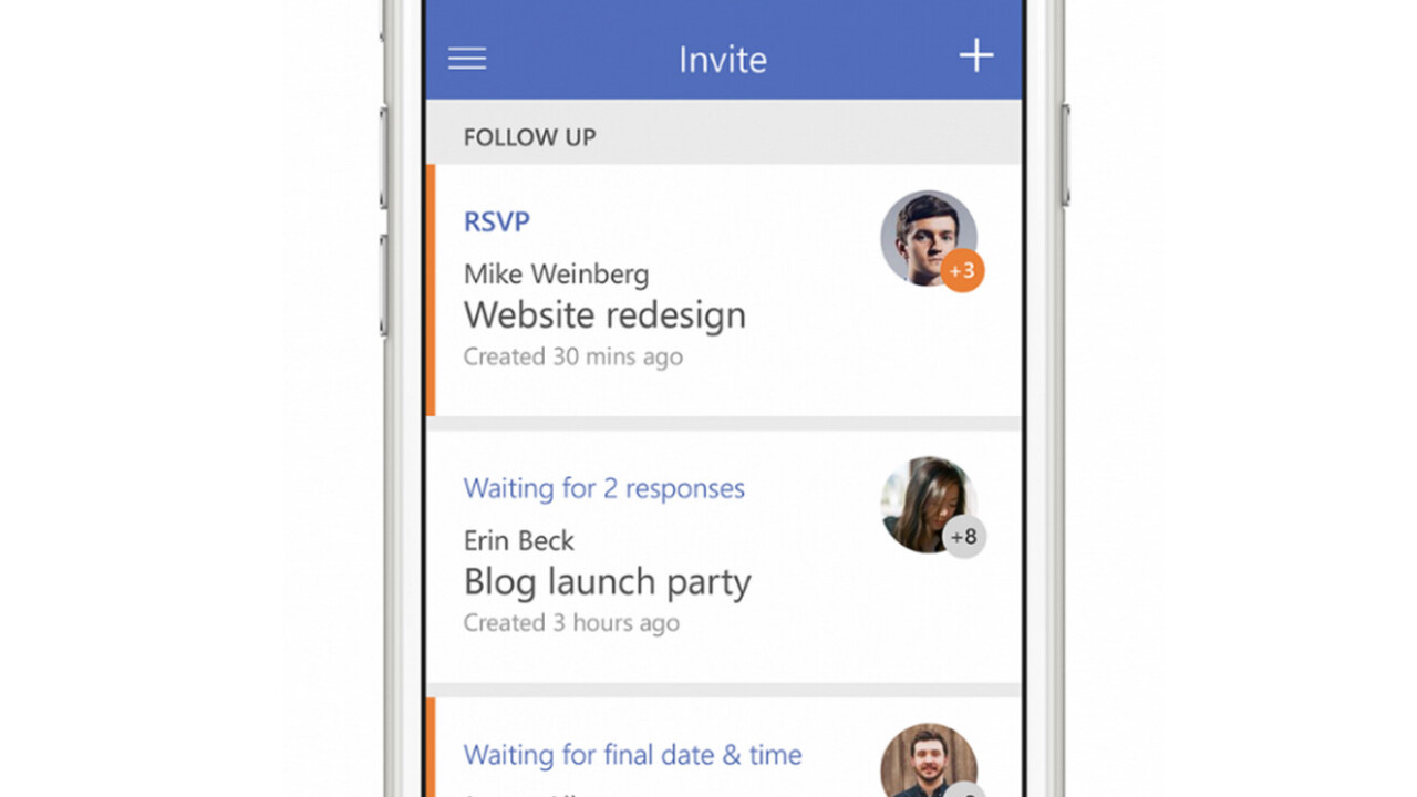 Microsoft's new Invite app for iOS want to take the hassle out of group meetings