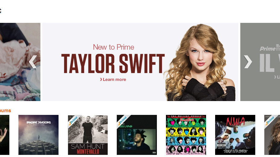 Universal Music makes The Weeknd, Taylor Swift and other artists available on Amazon's Prime Music