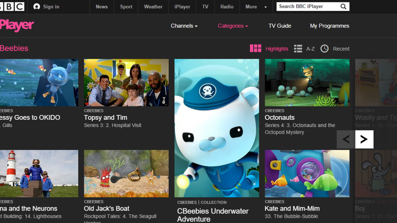 BBC to launch new iPlayer streaming apps just for kids next year