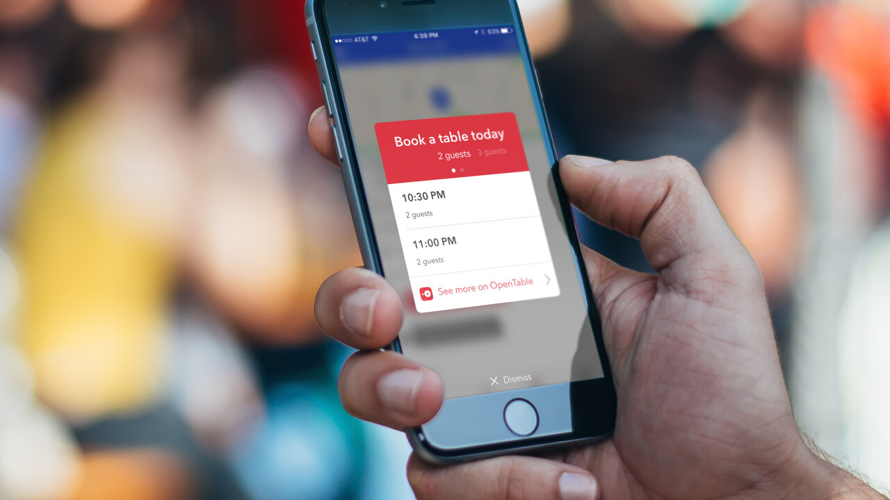 Foursquare now lets you make OpenTable reservations without leaving the app