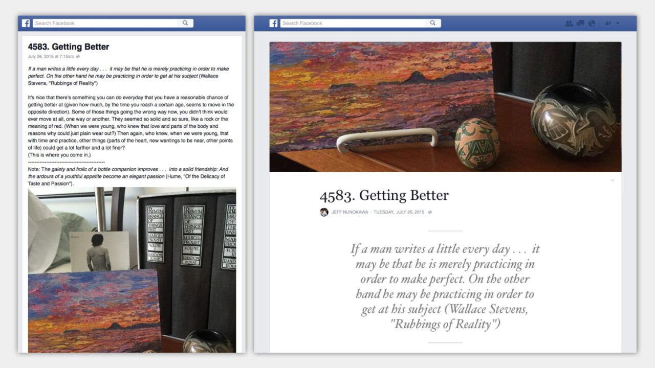 Facebook turns Notes into a blogging platform with revamped interface