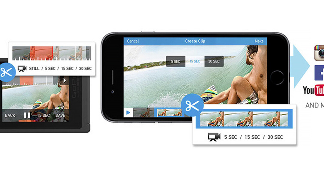 GoPro camera and app updates let you trim and share video on the go