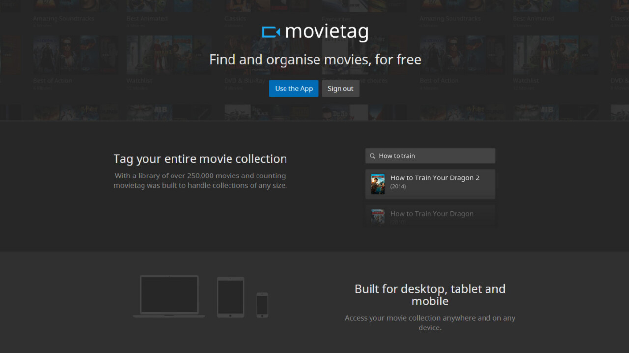 Love movies? Movietag helps you keep track of everything you'll want to watch