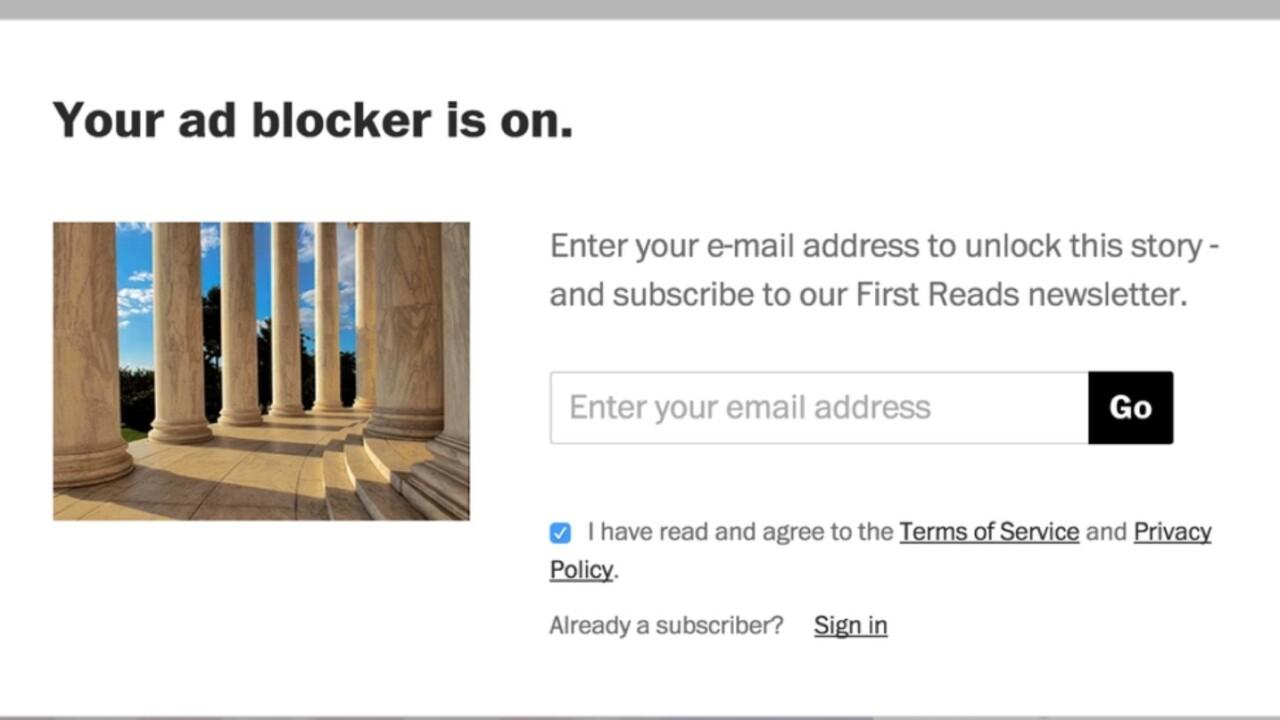 Hey news sites: Blocking adblockers is dumb