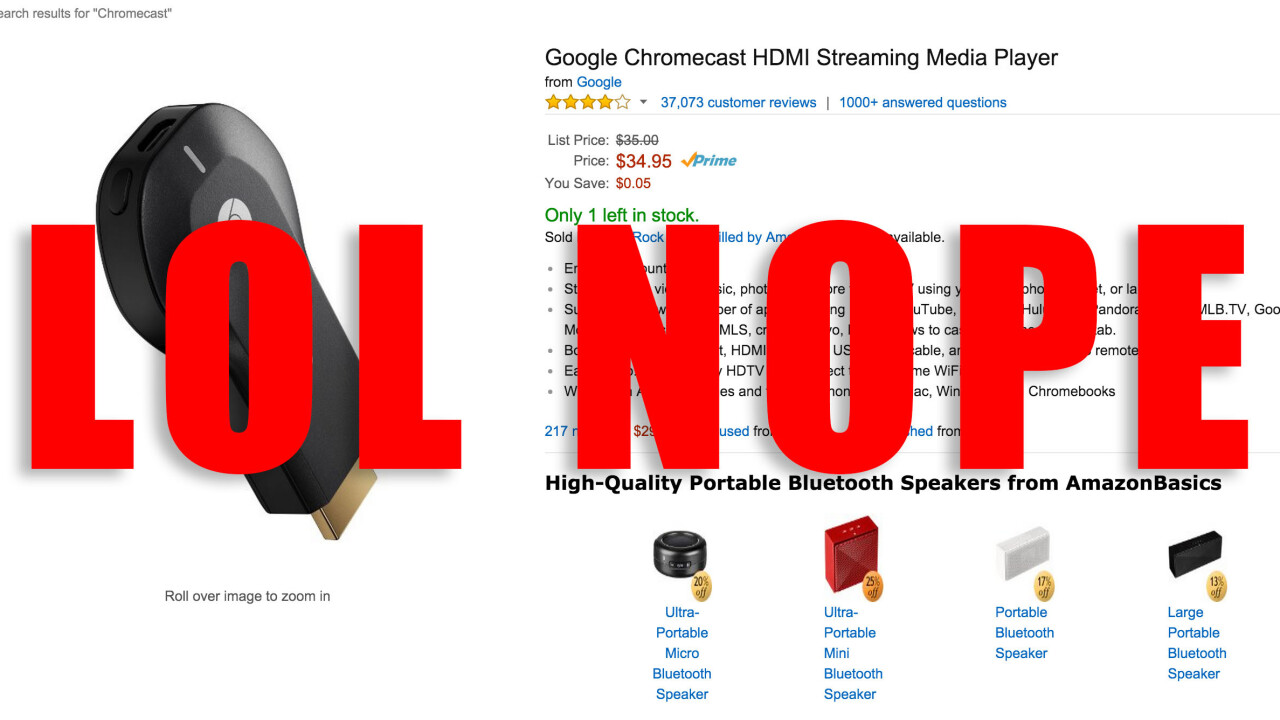 Amazon sets a worrisome precedent by halting Chromecast and Apple TV sales