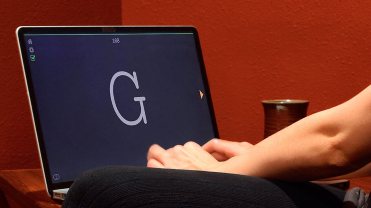 This is a clever app for creative writing: You don't get to see what you've just written