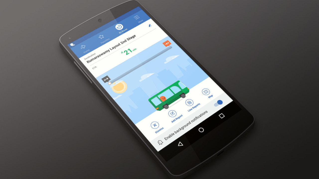 Moovit brings its crowdsourced public transit mapping service to India, starting with Bangalore