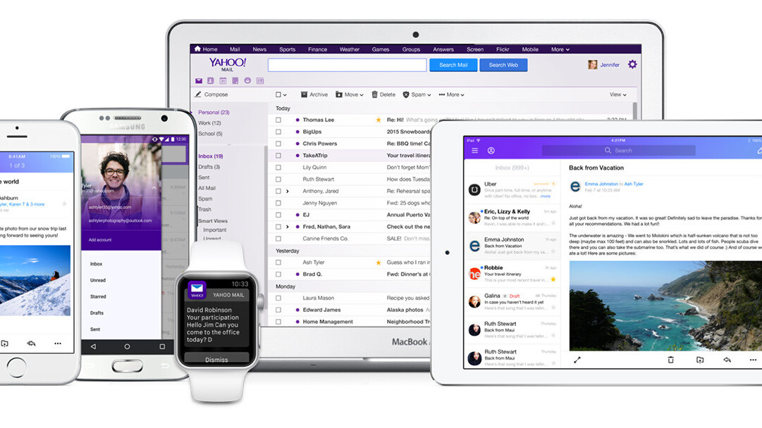 Yahoo Mail gets a massive overhaul with a new look… and no need to use a password