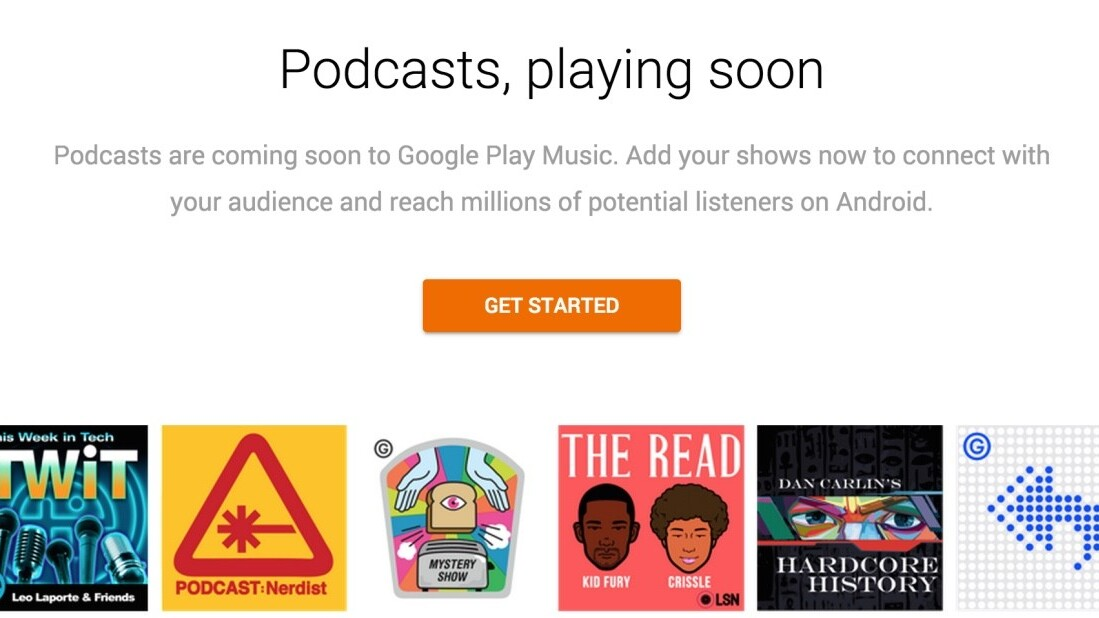 Google Play Music will soon have podcasts