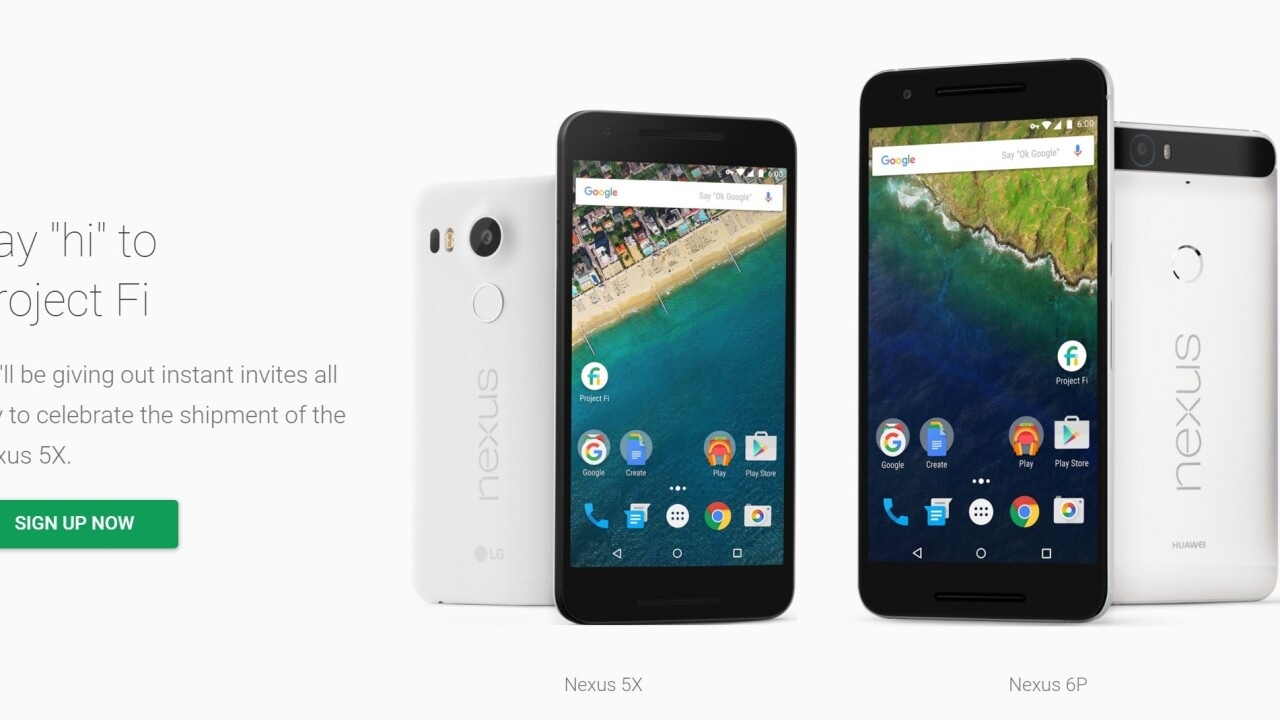 The Nexus 5X goes on sale and Google celebrates with 'instant' Project Fi invites
