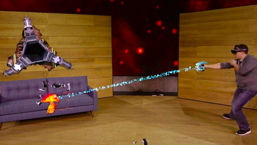 Microsoft's Project X-Ray lets you use HoloLens to turn your house into a game stage