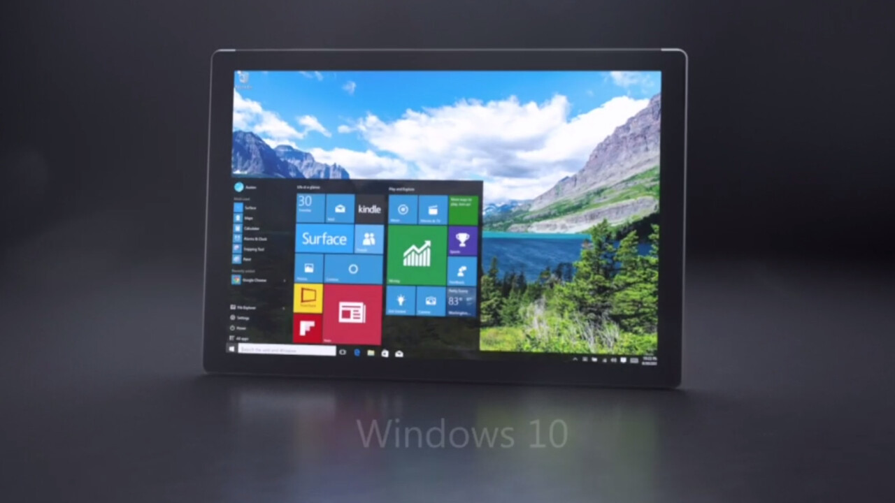 This is the Microsoft Surface Pro 4