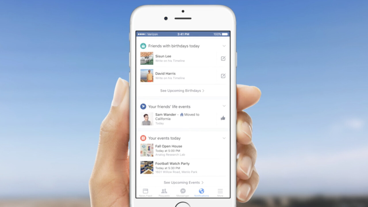 Facebook is making mobile notifications more personal and location-based