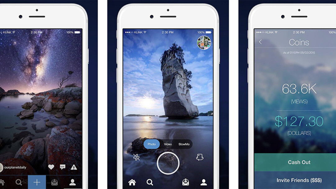 Klink launches social media platform and iOS app offering cash in return for photo views