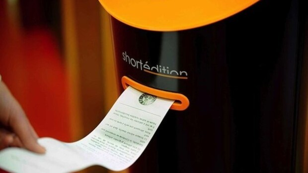 This vending machine prints short stories to read instead of looking at your phone