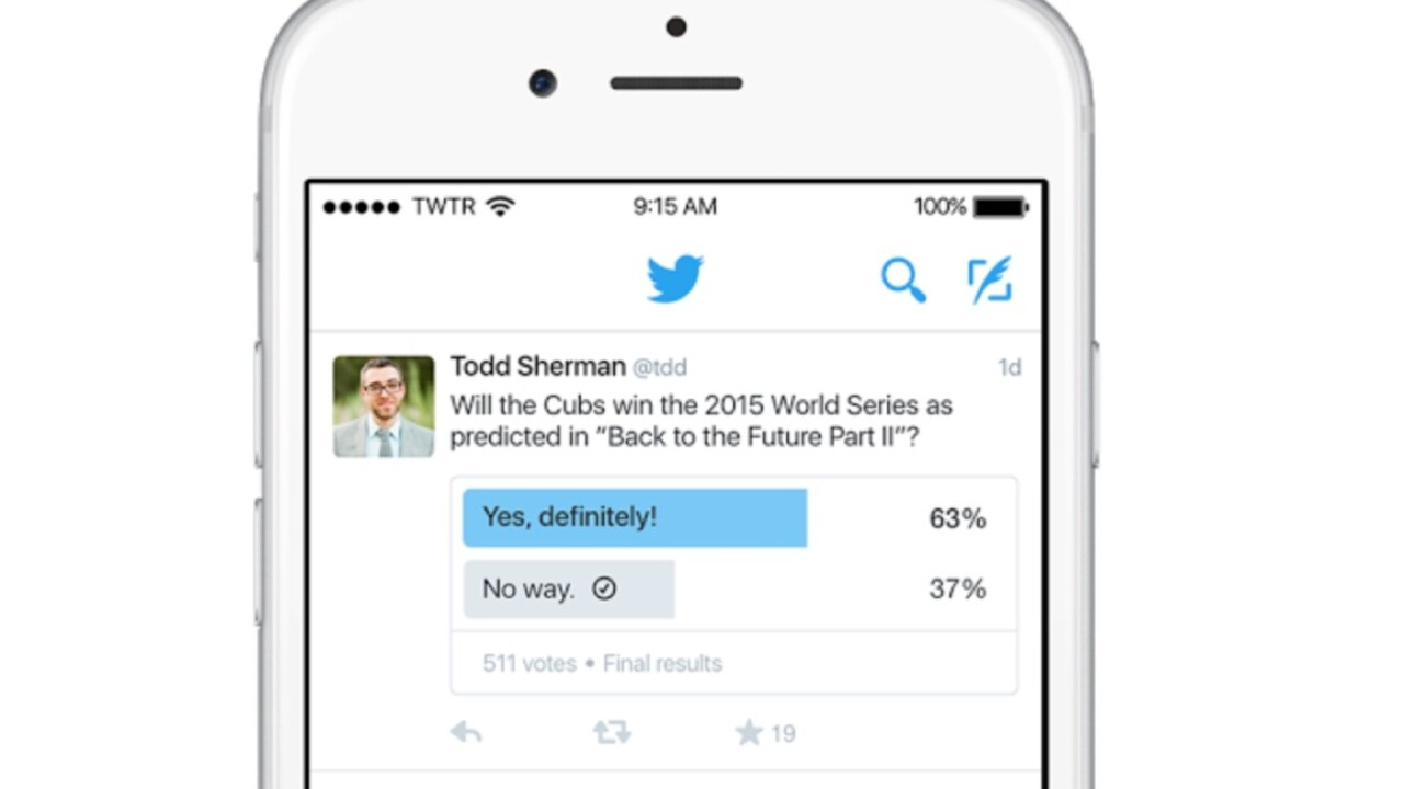 Twitter polls are now rolling out to all users