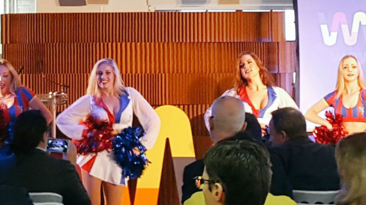 Cheerleaders bring more confusion than cheer to startup pitch day in London