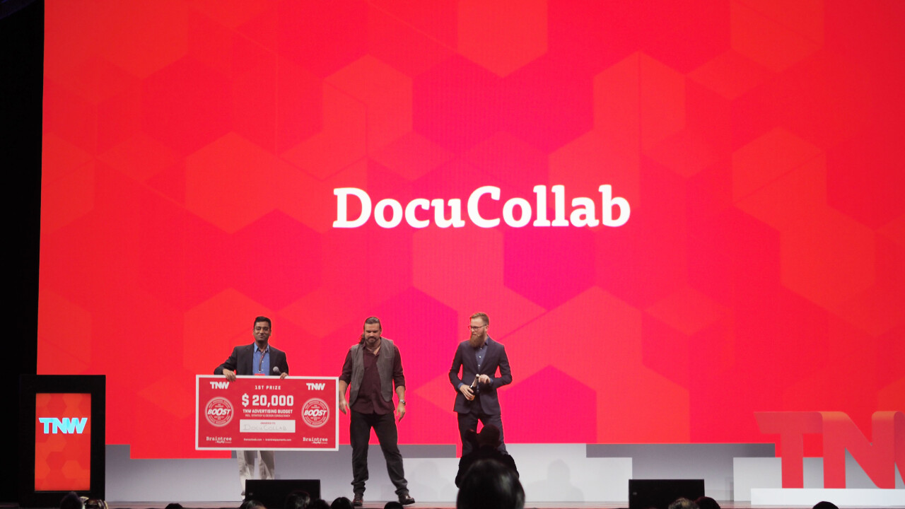 DocuCollab wins TNW USA's Boost startup competition