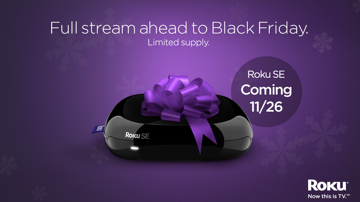 Roku launches entry-level $50 streamer, get it for $25 on Black Friday